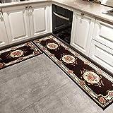 Tsosginaog Kitchen Carpet Long Strip Rug Doorway Non-Slip Water Absorption Oil-Proof Door Mat for Household/Restaurant/Cafe/Hotel Mat,N,5080+50150