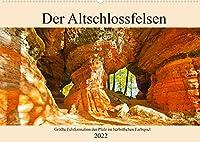 Der Altschlossfelsen - Groesste Felsformation der Pfalz im herbstlichen Farbspiel (Wandkalender 2022 DIN A2 quer): Herbstliche Wanderung im Pfaelzerwald bei Eppenbrunn (Monatskalender, 14 Seiten )