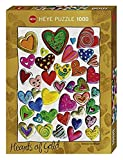 Heye 29708 - Puzzle Standard 1000 Teile, Stefanie Mayer Stein, Corazón del Grupo Mixto de Oro