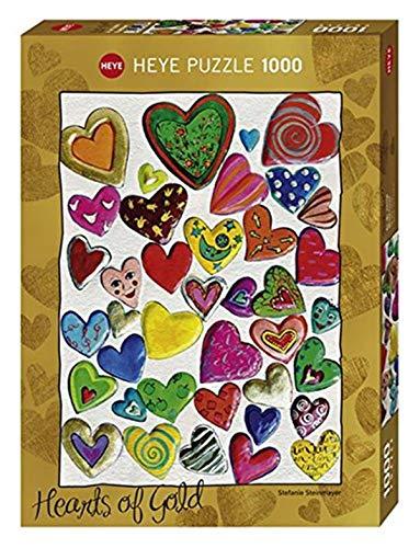 Heye 29708 - Standardpuzzle 1000 Teile, Stefanie Steinmayer, Hearts of Gold Mixed Crowd