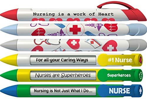 Greeting Pen Nurse Appreciation 6 Designs Rotating Message 6 Pen Set (36067)