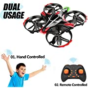 Mini Drone for Children, GEEKERA Helicopter Kids Drone with Gesture Controlled Remote Controlled Toss Shake Takeoff Gifts for Boys Girls Teenagers Adults and Beginners