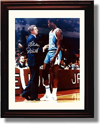Michael Jordan North Carolina Tarheels NCAA Framed 8x10 Photograph Last 17 Second Shot Horizontal