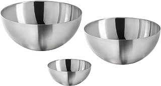 Mixing Bowls, Salad Bowl Large Medium Small Set of 3, Popcorn Bowl, Stainless Steel Serving Bowls, Baking Pot, Serveware K...
