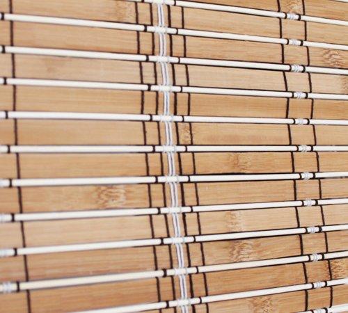 Unbekannt Bambus Rollo Raffrollo Faltbehang Sonnenschutz (90 x 180 cm)