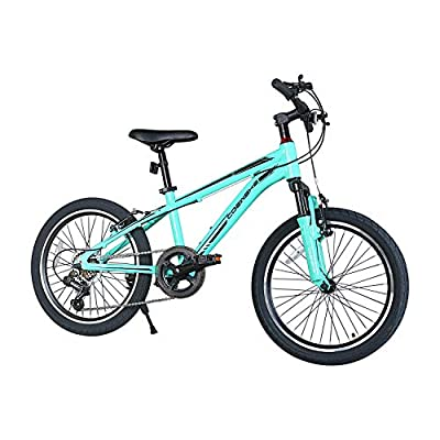 COEWSKE 20 Inch Kids Bike Enjoy-Style Children's Variable Speed Mountain Bike Sports Cycling 6 Speed with Kickstand Fit for 6-13 Years Old Or 49-62 Inch Tall Kids(6 Speed Blue)