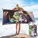 QWAS Toalla de playa Angry Birds con bonito diseño de pájaros y cerdos, muy suave, la mejor opción para viajar a casa (A08,70 cm x 140 cm)