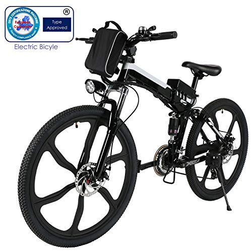 Speedrid Bici elettrica Pieghevole per Bici elettrica, Pneumatici 26/20 Ebike Bici elettrica per Bici con Motore brushless da 250 W e Batteria al Litio 36 V 8 Ah Shimano