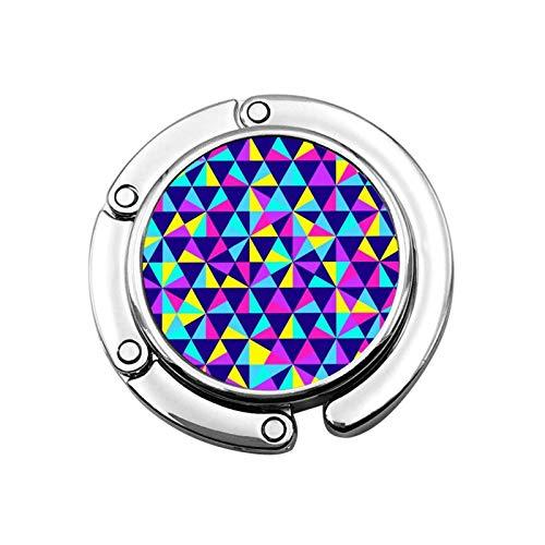 Crochet de Sac à Main Triangle coloré Porte-Sac à Main Pliable Crochet de Sac de Suspension pour Sac à Main pour Table