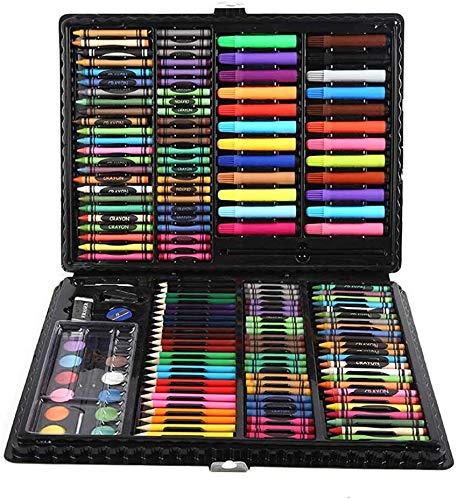 Gedeihen Maletin Pinturas para niños Set papeleria Infantil Color Dibujo Artista de Diferentes Tipos de Utensilios de Dibujo,168 Piezas