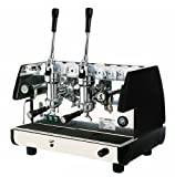 La Pavoni Bar 2L-B Lever Espresso Coffee Machine with Chromed Brass Groups, Golden Black, 14 Liter Boiler, Manual Boiler Water Charge Button, Manometer For the Boiler Pressure Control
