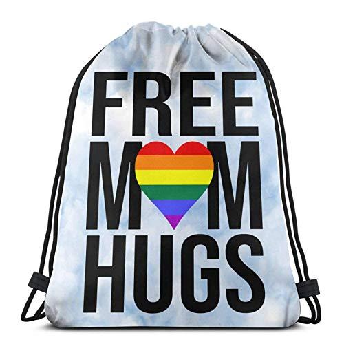 Free Mom Hugs Drstring Bapa Sports Gym Borsa da viaggio Sapa per bambini Uomo Donna