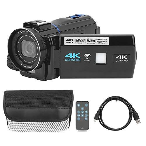 DAUERHAFT Videocámara 4K de Gran Capacidad, con luz de Relleno de Temperatura...