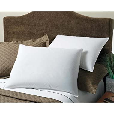 Luxury White Goose Down Chamber Pillow - Hypoallergenic Feathers Surrounded By Down - Popular Hotel Pillow - King 20  x 36