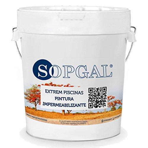 Pintura impermeabilizante para Piscinas o soportes con estancamiento de agua - Extrem Sopgal (Color Azul - 20 kilos)