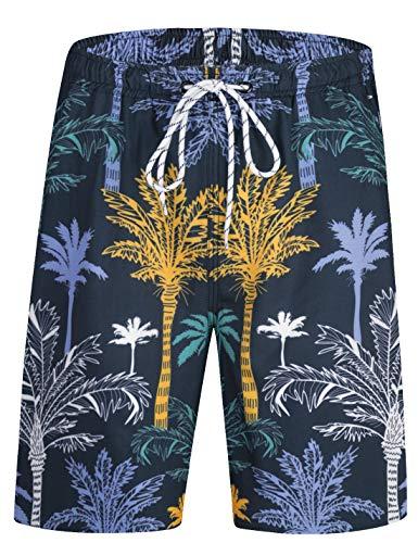 APTRO Men's Swimming Trunks with Pockets Beach Swimwear Quick Dry Elastic Waist Board Shorts XXL HWP033