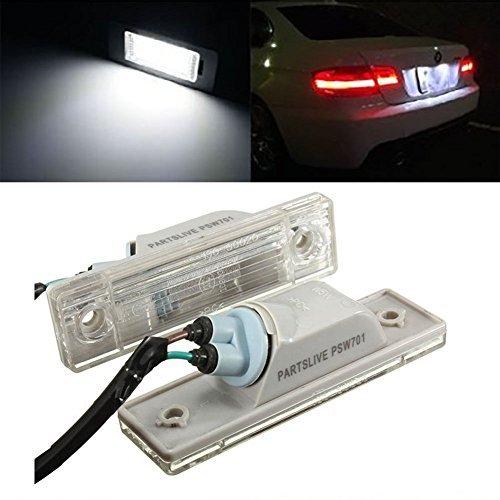 TUINCYN Lot de 2 ampoules LED universelles pour plaque d'immatriculation arrière de voiture Cruze Blanc