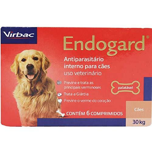 Vermífugo Virbac Endogard para Cães até 30 Kg - 6 comprimidos