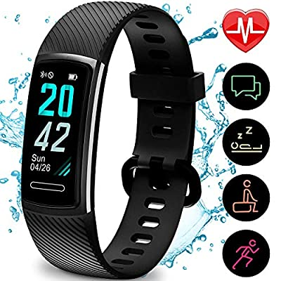 Updated 2019 Version Fitness Trackers HR, Activity Trackers Health Exercise Watch with Heart Rate and Sleep Monitor, Smart Band Calorie Counter, Step Counter, Pedometer Walking for Men Women and Kids from TEMINICE