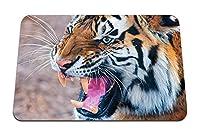 22cmx18cm マウスパッド (侵略虎顔捕食者) パターンカスタムの マウスパッド