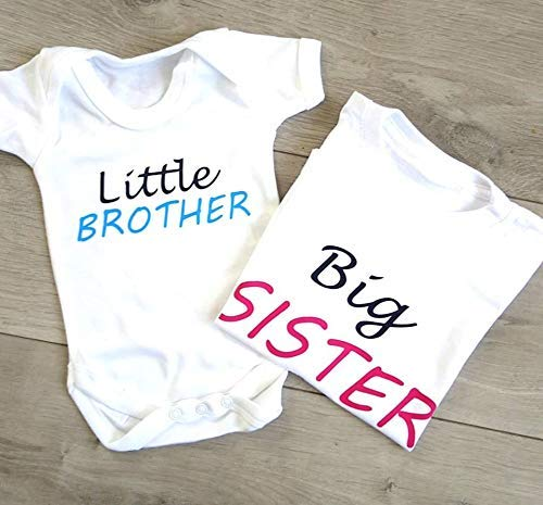 Matching Sibling Set Big SisterLittle Brother Matching Sibling Set Take Home Outfit Baby Shower Gift