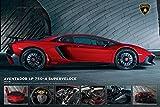 Lamborghini - Aventador - Poster - Grösse 91,5x61 cm + 1