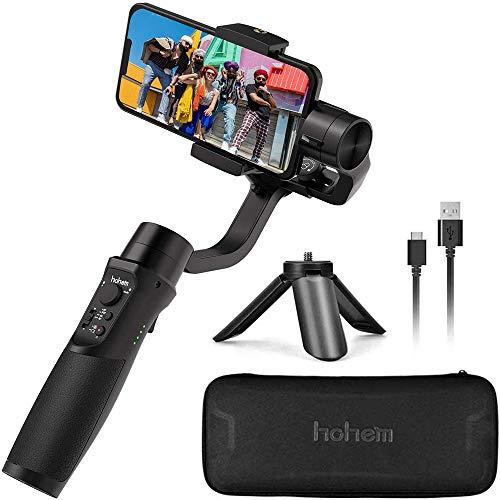 Hohem iSteady Mobile Plus Stabilizzatore cardanico a 3 assi per smartphone Gimbal i-Phone con controllo APP Stabilizzatore cardanico palmare per i-Phone X XR Xs Gimbal utilizzato per Vlog Youtuber