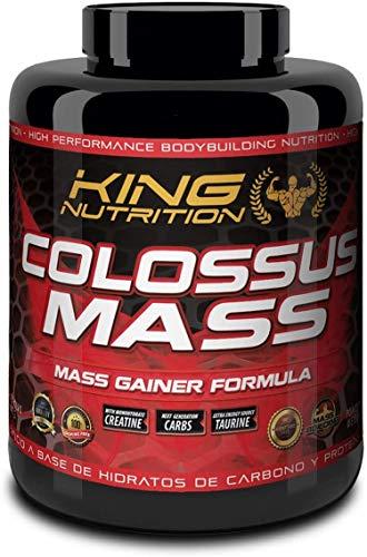 COLOSSUS MASS 3kg Chocolate Avellana King Nutrition proteina carbohidratos creatina gainer subidor de masa peso y fuerza