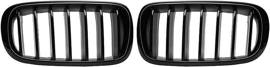 2017 Accesorios de Coche Topauto 3 Piezas de Tiras de Rejilla Delantera embellecedor ABS Lentejuelas para BMW X5 F15 2014