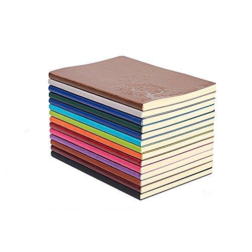 XYTMY A5 PU in pelle colorato Notebook scrittura Diario ufficiale Notebook quotidiano Notepad Carino diario di viaggio Set di 4 colori stocastici