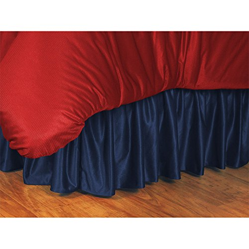 Sports Coverage NHL Columbus Blue Jackets Bed Skirt, King, Midnight