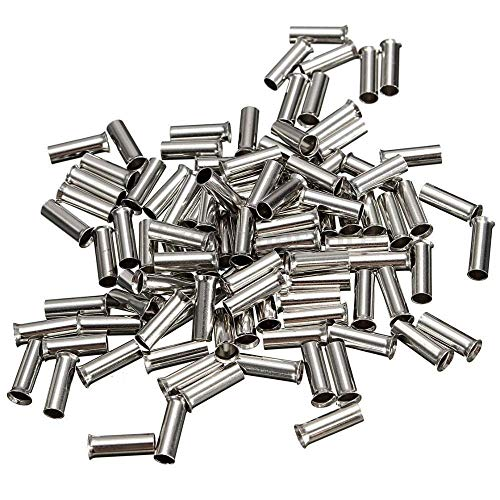 100PCS Copper Terminal, Non-insulated Wire Connector Ferrule, Terminal Bare Copper Tinned Crimp Terminal 0.5mm-16mm (Size : EN16 12)