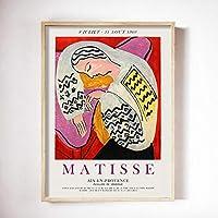 Matisse マティス アートパネル北欧抽象女性顔ポスター有名な絵画インテリアMatisse マティス ウォールアートパネルアートパネルワークプリントキャンバス写真家の装飾絵画インテリア40x60cm絵画 インテリア フレームなし painting インテリア、玄関、リビングと寝室の飾りに最高P166