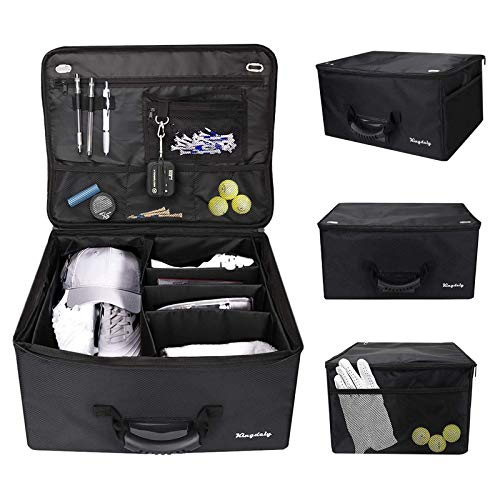 Timechee Golf Trunk Organizer, Waterproof Car Golf Locker Golf Supplies Trunk Organizer to Store Golf Accessories, Easy Storage for Any Vehicle (Black)