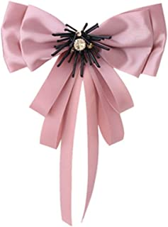 becf8e24e06 DARLING HER Classic Cloth Clip Tie Fashion Lovely Bees Bowknot Charm Fabric  Ribbon Statement Bow Brooches