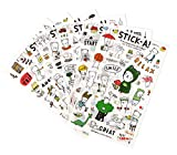 12 Sheets Small Kawaii Letter Stickers Korean Stationery Stickers Laptop and Water Bottle Decal Sticker Photo Planner Stickers Pocket Sticker for DIY Arts and Crafts,Life Daily Planner,Calendars(Bear)
