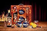 Fuego Alicate Taza Set de regalo azul Invierno–Diseño de madera de raíz