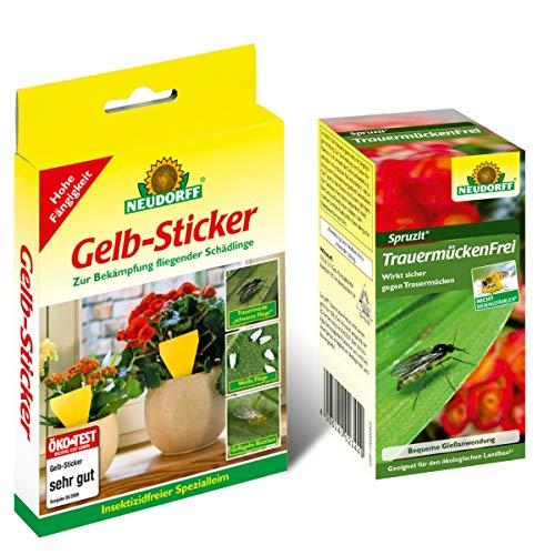 Neudorff TrauermückenFrei (30ml Konzentrat) & 10 Gelb-Sticker Leimfallen Gelbsticker