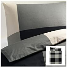 Ikea Brunkrissla Twin Duvet Cover and Pillow Case, Black/gray