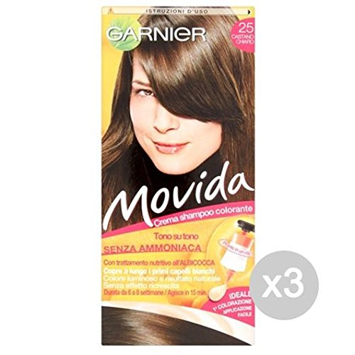 Set 3 MOVIDA 25 Light Brown Farbe Und Farbe Hair