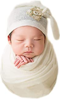 Newborn Infant Baby Photography Props Boys Girls Hat with Blanket Wrap Photo Shoot Set
