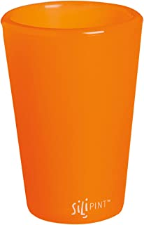 Cypress 2SS001 SiliPint Tough Tangerine Unbreakable Silicone Shot Glass, 1.5 oz, Multicolored