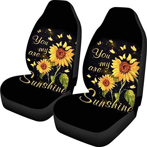 Fundas de Asiento de vehículo de Tela de poliéster con diseño de Girasol Sunshine Fundas de Asiento de Coche de Ajuste Universal Juego Completo para Mujeres 47.5 * 75.5 * 49.5cm 5