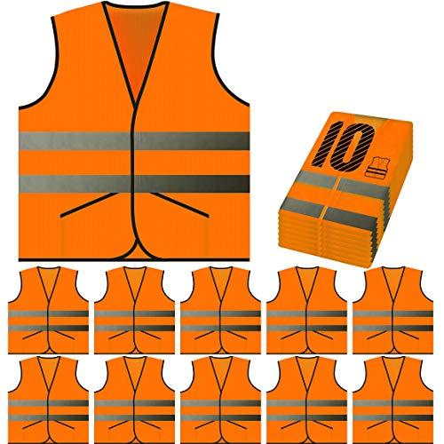 PeerBasics Pocket Safety Vest Bulk Pack Reflective High Visibility Men Women