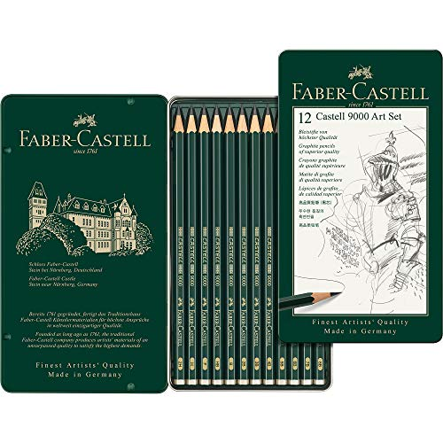 Faber-Castell 9000 Graphite Sketch Pencil Sets Art 8B - 2H set of 12