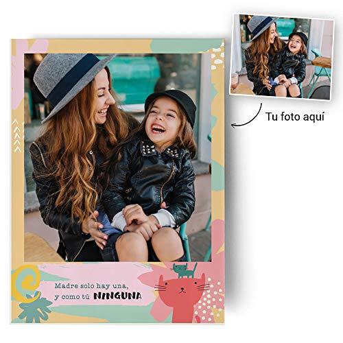 Fotoprix Poster Personalizado con Nombre para felicitar a Mamá | Regalo Original día de la Madre | Varios diseños y tamaños (Madre 2, 30 X 40 cms)