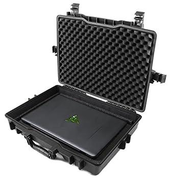 Casematix 15.6 to 17 inch Waterproof Laptop Hard Case Compatible with Razer Blade Gaming Laptops Razer Blade 15 Razer Blade Pro 17 Razer Blade Stealth and More Razer Accessories