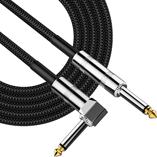Guitar Cable 10ft,Professional Instrument Cable Bass AMP Cord with 1/4
