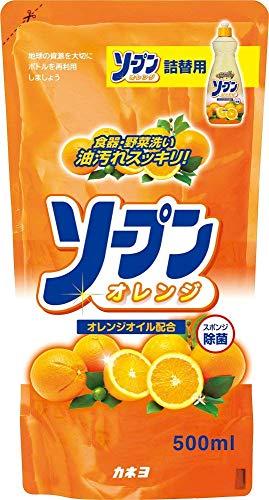 カネヨ石鹸 台所用洗剤 ソープンオレンジ詰替用 オレンジの香り 500ml