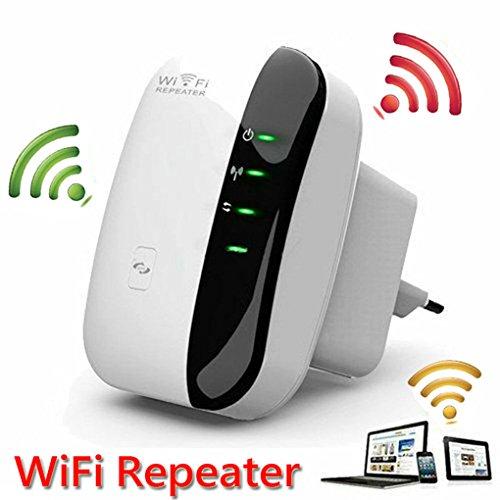 Snowsound Wi-Fi Repeater Amplificatore a Lungo Raggio Extender Wireless-N 300 Mbps Punto di Accesso AP WLAN IEEE802.11N / G/B Router di Rete Booster Segnale 2,4 GHz Adattatore di Rete Antenne